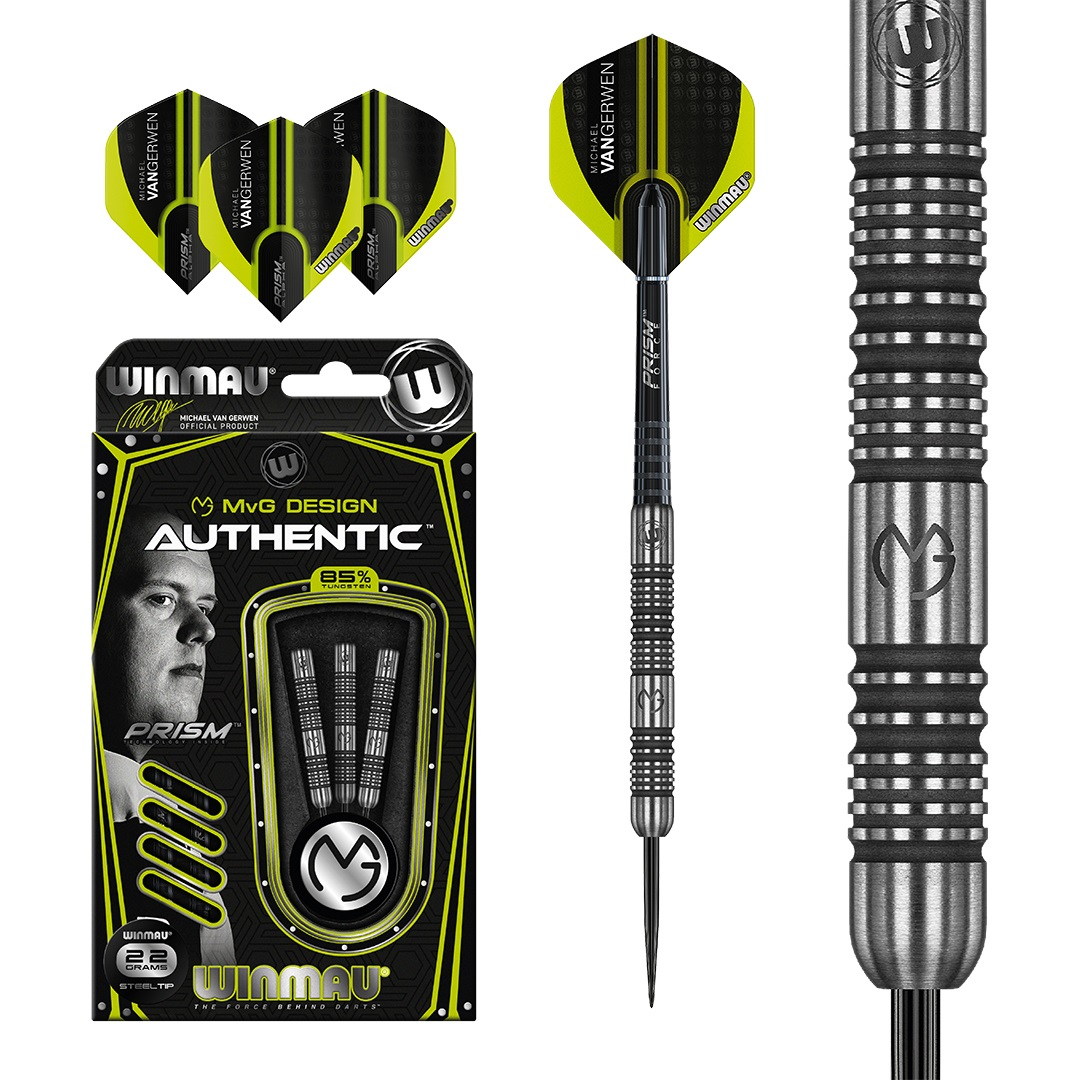 Šipky steel Michael van Gerwen Winmau Authentic 22g