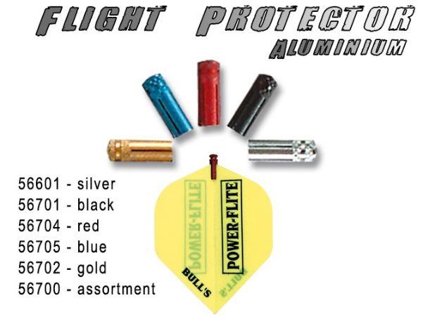 Bull´s Flight Protector Aluminium červený - chránič letek 56704