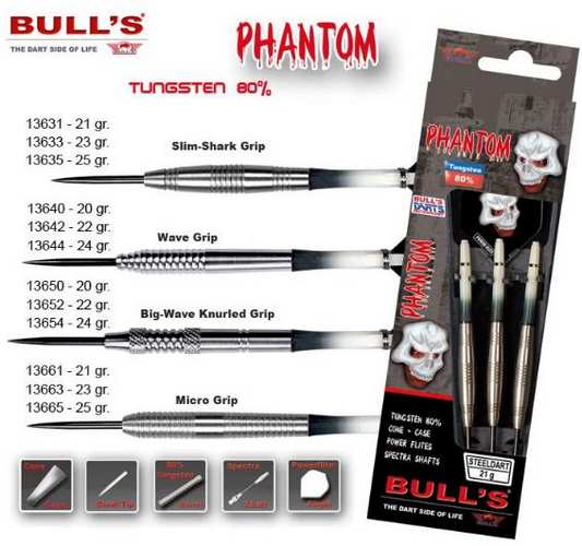 Bull´s Šipky Steel Phantom Slim-Shark Grip 23gr. 13633