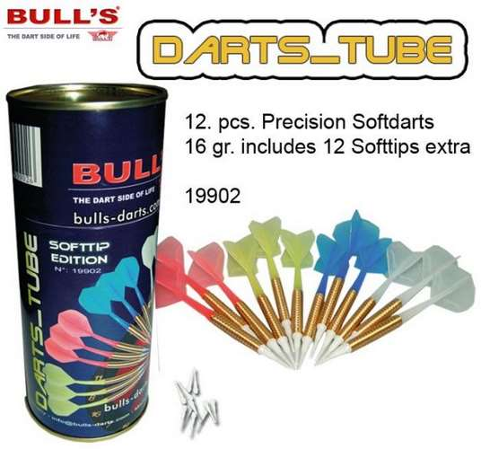 Sada softových šipek Bull´s - Darts Tube 16gr. 19902