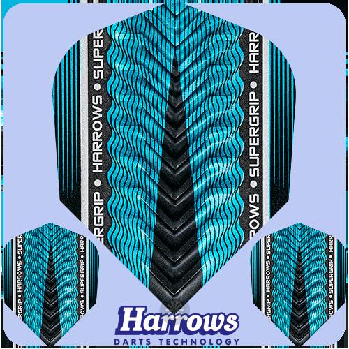 Letky Harrows Supergrip X Flights Blue/Modré F0968