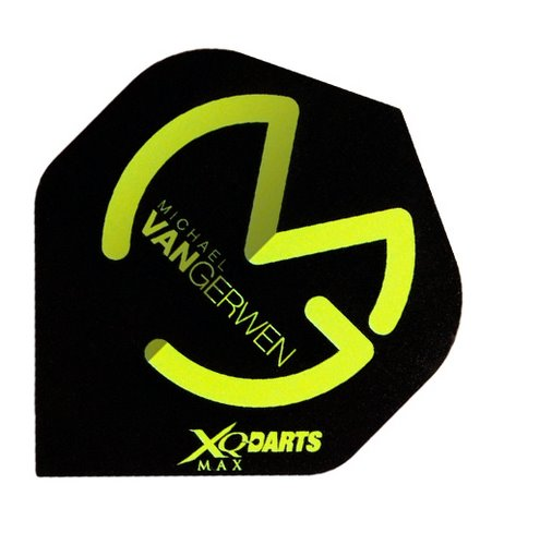 XQMax Darts Letky XQMax 100  - Michael van Gerwen - MvG Black Green