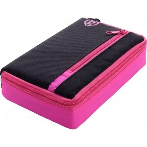 Pouzdro na šipky One80 Large D Box růžovo-černé