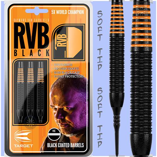 Šipky Target soft RvB - Barney - Black Brass 19g
