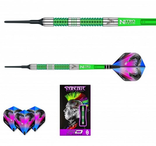 Šipky soft Peter Wright Snakebite Mamba 2 20g Tungsten 90% RED DRAGON