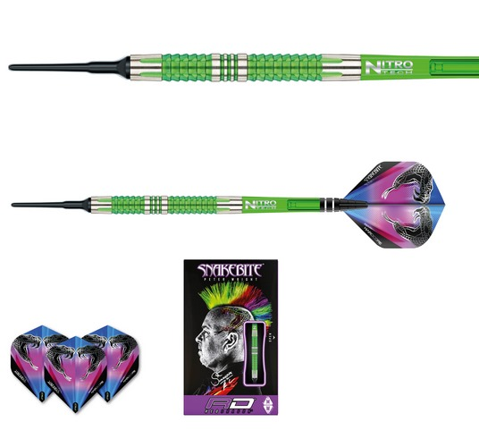 Šipky soft Peter Wright Snakebite Mamba 2 18g Tungsten 90% RED DRAGON