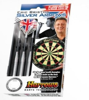 Harrows Šipky Steel Silver Arrows Eric Bristow 26gR