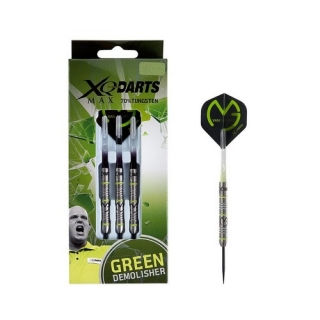 XQMax Šipky steelové 70% Tungsten Michael van Gerwen 23gR. - Green Demolisher