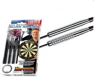 Harrows Šipky Steel Silver Arrows Eric Bristow 24gK