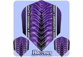 Letky Harrows Supergrip X Flights Purple/Fialové F0974