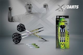 XQMax Šipky softové 90% Tungsten Michael van Gerwen 18gR. - Mighty Generation 2