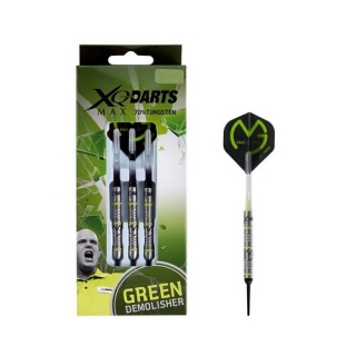 XQMax Šipky softové 70% Tungsten Michael van Gerwen 18gR. - Green Demolisher