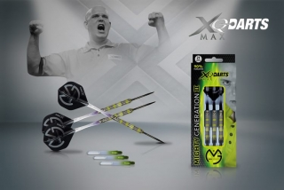 XQMax Šipky steelové 90% Tungsten Michael van Gerwen 21gR.- Mighty Generation II