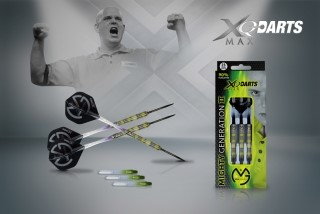 XQMax Šipky steelové 90% Tungsten Michael van Gerwen 23gR.- Mighty Generation II
