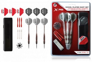 Sada XQMax Rubberised Dart Set šipky steel 21g