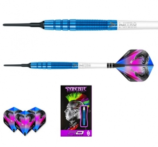 Šipky softt Peter Wright Snakebite PL15 18g blue Tungsten 90% RED DRAGON